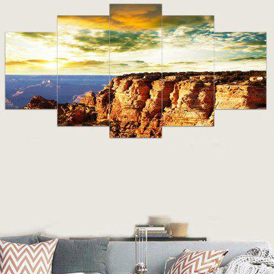 Unframed Cliff Sunset Landscape Printed Canvas Wall Art Paintings