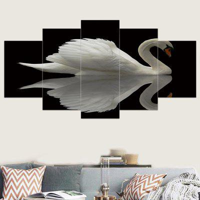 Swan Printed Unframed Canvas Wall Art Paintings