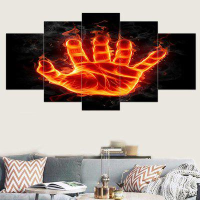 Flame Palm Printed Unframed Canvas Wall Art Printings