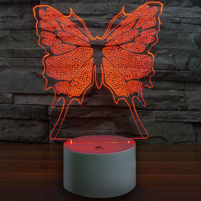 3D Butterfly Decor USB Charging LED Touch Night Light