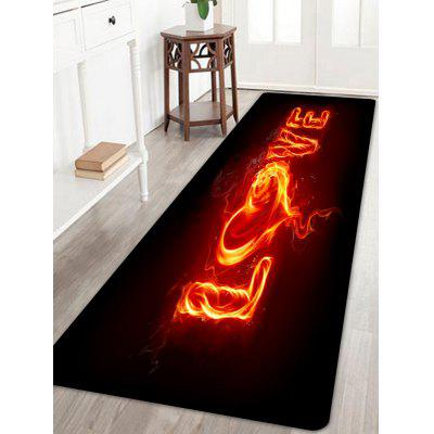 Burning Love Pattern Indoor Outdoor Valentine's Day Area Rug