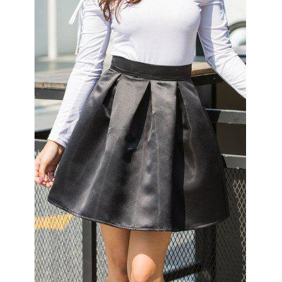 High Waist A-line Mini Skirt