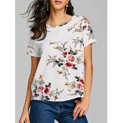 Casual Short Sleeve Floral T-shirt