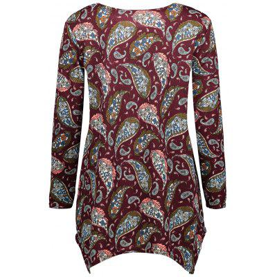 Tribal Print Asymmetrical Tunic T-shirtBlouses<br>Tribal Print Asymmetrical Tunic T-shirt<br><br>Collar: Round Neck<br>Material: Polyester, Spandex<br>Package Contents: 1 x T-shirt<br>Pattern Type: Tribal Print<br>Season: Fall, Spring<br>Shirt Length: Regular<br>Sleeve Length: Full<br>Style: Casual<br>Weight: 0.2600kg