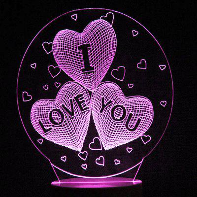 Mother's Day Love Heart Colors Changing LED Night Light