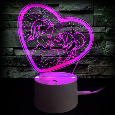 Valentines day gift romantic kiss color changing 3d vision night valentines day gift romantic kiss color changing 3d vision night light negle Images