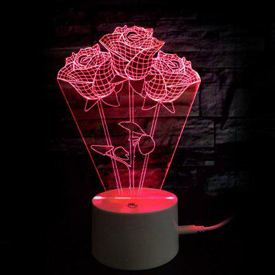 Mothers Day Valentine Gift 9 Color Changing Roses Night Light
