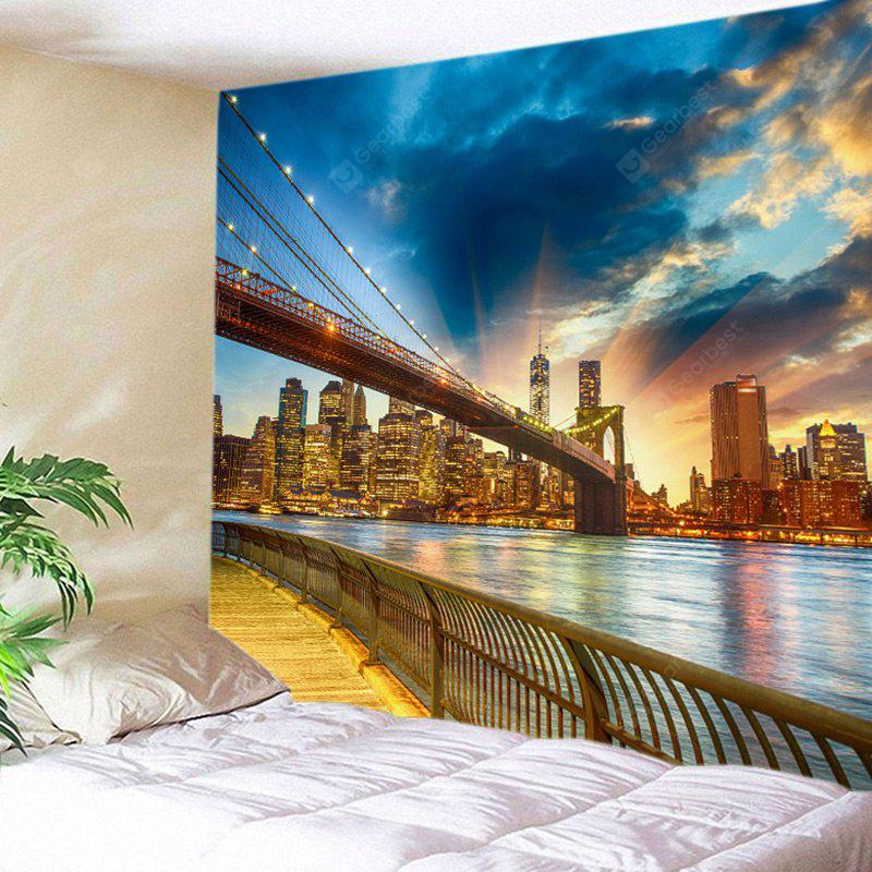 City On River Side Print Tapestry Wall Hanging Decoration