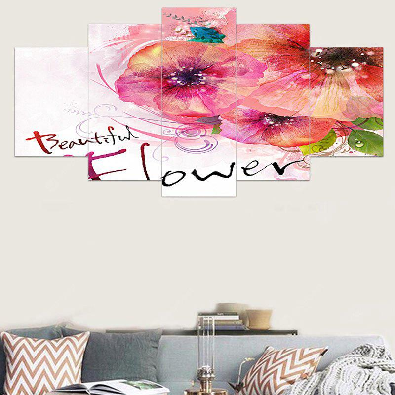 Decorative Wall Art Unframed Canvas Flowers Ink Paintings
