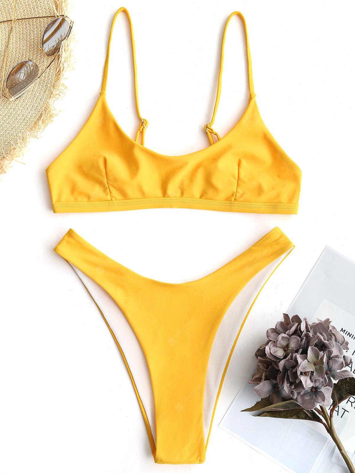 Bralette High Cut Bikini Set