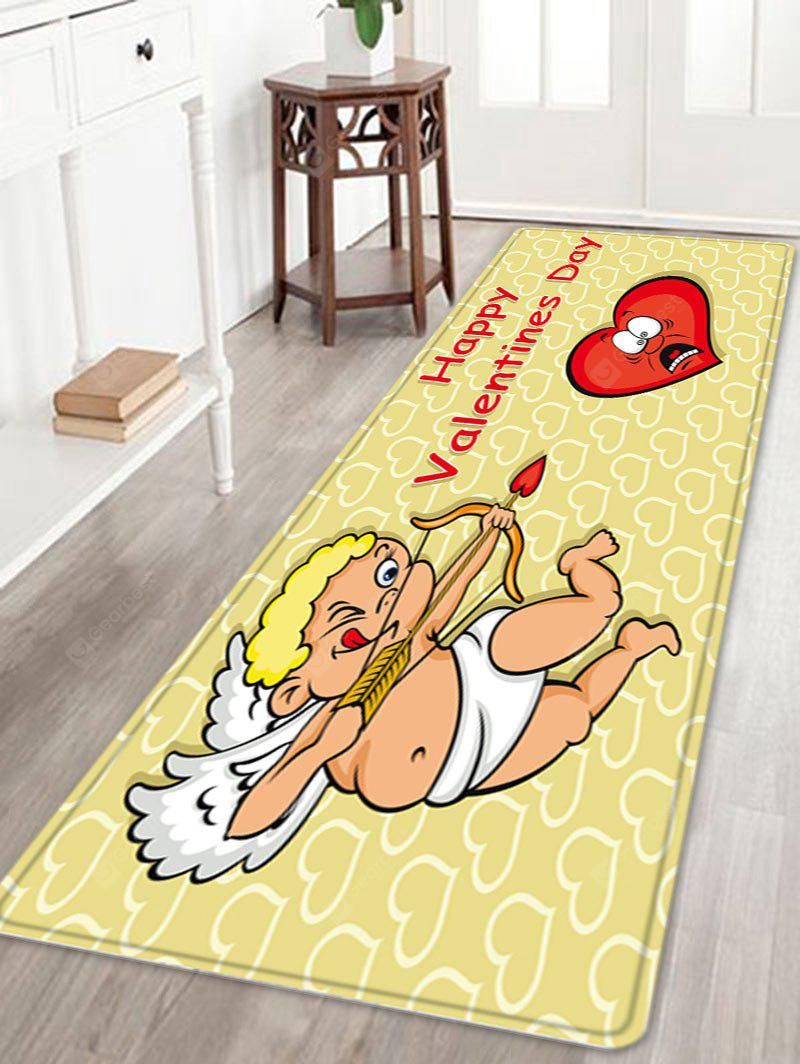 Valentine's Day Cupid Pattern Indoor Outdoor Area Rug
