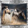 Horses Pattern Tapestry Wall Hanging Art - GRAY