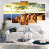 Unframed Cliff Sunset Landscape Printed Canvas Wall Art Paintings - BLUISH YELLOW