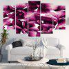 Flowers Printed Canvas Unframed Wall Art Paintings - PURPLE