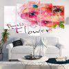 Decorative Wall Art Unframed Canvas Flowers Ink Paintings - LIGHT PINK