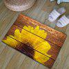 Sunflower Wood Grain Flannel Skidproof Bath Rug - WOOD COLOR