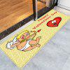 Valentine's Day Cupid Pattern Indoor Outdoor Area Rug - YELLOW