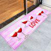 Heart Wine Pattern Valentine's Day Indoor Outdoor Area Rug - PINK