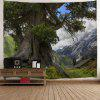 Wall Decoration Tree Mountains Print Tapestry - COLORMIX