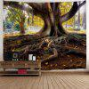 Big Tree Roots Print Wall Hanging Tapestry - WOOD COLOR