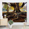 Big Tree Roots Print Wall Hanging Tapestry WOOD COLOR