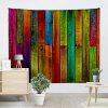 Colorful Wood Plank Print Wall Hanging Tapestry - COLORFUL
