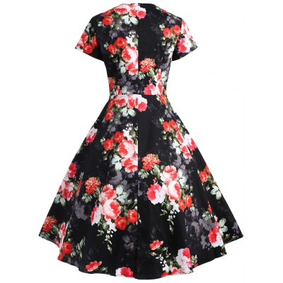 Floral Print Empire Waisted Flare DressWomens Dresses<br>Floral Print Empire Waisted Flare Dress<br><br>Dress Type: Fit and Flare Dress<br>Dresses Length: Knee-Length<br>Material: Polyester<br>Neckline: V-Neck<br>Package Contents: 1 x Dress<br>Pattern Type: Print, Floral<br>Season: Fall, Spring, Summer<br>Silhouette: A-Line<br>Sleeve Length: Short Sleeves<br>Style: Vintage<br>Waist: Empire<br>Weight: 0.3400kg<br>With Belt: No