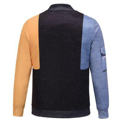 Pocket 3D Print Color Block JacketMens Jackets &amp; Coats<br>Pocket 3D Print Color Block Jacket<br><br>Closure Type: Single Breasted<br>Clothes Type: Jackets<br>Collar: Stand Collar<br>Material: Polyester<br>Occasion: Work, Going Out, Daily Use, Casual<br>Package Contents: 1 x Jacket<br>Season: Fall, Spring, Winter<br>Shirt Length: Regular<br>Sleeve Length: Long Sleeves<br>Style: Casual<br>Weight: 0.7000kg