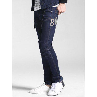 Number Embroidered Stitching JeansMens Pants<br>Number Embroidered Stitching Jeans<br><br>Fabric Type: Denim<br>Fit Type: Regular<br>Front Style: Flat<br>Material: Cotton Blends<br>Package Contents: 1 x Jeans<br>Pant Length: Long Pants<br>Pant Style: Straight<br>Style: Fashion<br>Waist Type: Mid<br>Weight: 0.8000kg