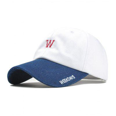 WEEKDAYS Pattern Embroidery Adjustable Baseball Hat