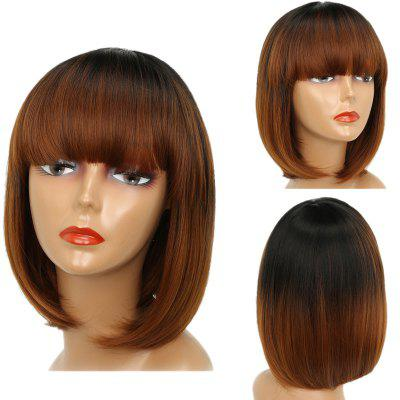 Short Full Bang Straight Bob Ombre Synthetic Wig