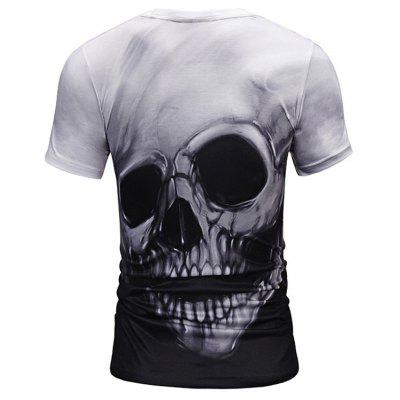 Skull 3D Print TeeMens Short Sleeve Tees<br>Skull 3D Print Tee<br><br>Collar: Crew Neck<br>Material: Polyester<br>Package Contents: 1 x Tee<br>Pattern Type: Skulls<br>Sleeve Length: Short<br>Style: Casual, Gothic, Streetwear<br>Weight: 0.2700kg