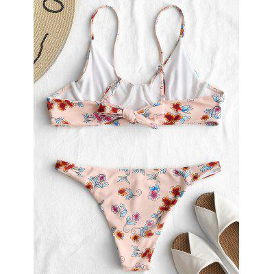 Floral Low Waist Thong Bikini SetLingerie &amp; Shapewear<br>Floral Low Waist Thong Bikini Set<br><br>Bra Style: Bralette<br>Elasticity: Elastic<br>Gender: For Women<br>Material: Nylon, Spandex<br>Neckline: Spaghetti Straps<br>Package Contents: 1 x Bra  1 x Briefs<br>Pattern Type: Floral<br>Support Type: Underwire<br>Swimwear Type: Bikini<br>Waist: Low Waisted<br>Weight: 0.1700kg