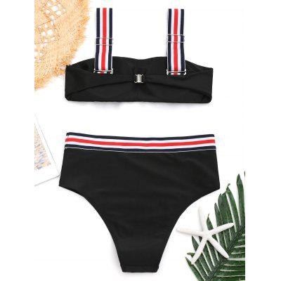 Padded Striped Trim Bikini SetLingerie &amp; Shapewear<br>Padded Striped Trim Bikini Set<br><br>Bra Style: Padded<br>Elasticity: Elastic<br>Gender: For Women<br>Material: Nylon, Spandex<br>Neckline: Straps<br>Package Contents: 1 x Top  1 x Briefs<br>Pattern Type: Striped<br>Style: Sexy<br>Support Type: Wire Free<br>Swimwear Type: Bikini<br>Waist: Natural<br>Weight: 0.2600kg