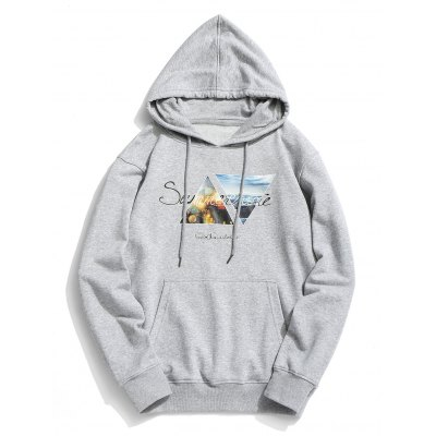 Graphic Pouch Pocket Fleece Hoodie