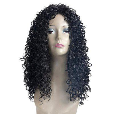 Long Side Bang Fluffy Kinky Curly Synthetic Wig