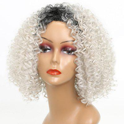 Short Colormix Side Bang Kinky Curly Synthetic Wig