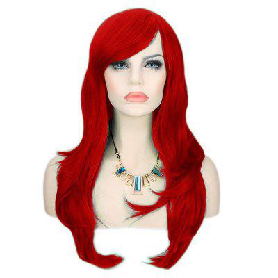 Long Side Bang Layered Wavy Synthetic Cosplay Wig
