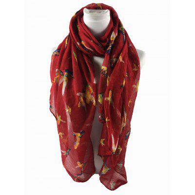 Simple Flying Birds Pattern Silky Long ScarfScarves<br>Simple Flying Birds Pattern Silky Long Scarf<br><br>Gender: For Women<br>Group: Adult<br>Length (CM): 180CM<br>Material: Polyester<br>Package Contents: 1 x Scarf<br>Pattern Type: Animal<br>Scarf Length: Above 175CM<br>Scarf Type: Scarf<br>Scarf Width (CM): 87CM<br>Season: Spring, Winter, Fall<br>Style: Fashion<br>Weight: 0.0900kg
