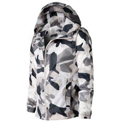 Camouflage Mesh Lining Zip Up Windbreaker JacketMens Jackets &amp; Coats<br>Camouflage Mesh Lining Zip Up Windbreaker Jacket<br><br>Closure Type: Zipper<br>Clothes Type: Jackets<br>Collar: Hooded<br>Material: Polyester<br>Occasion: Holiday, Daily Use, Casual<br>Package Contents: 1 x Jacket<br>Season: Spring<br>Shirt Length: Regular<br>Sleeve Length: Long Sleeves<br>Style: Casual, Fashion, Streetwear<br>Weight: 0.3300kg