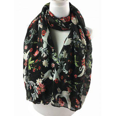 Vintage Swans Pattern Embellished Silky Long ScarfScarves<br>Vintage Swans Pattern Embellished Silky Long Scarf<br><br>Gender: For Women<br>Group: Adult<br>Length (CM): 180CM<br>Material: Polyester<br>Package Contents: 1 x Scarf<br>Pattern Type: Animal<br>Scarf Length: Above 175CM<br>Scarf Type: Shawl/Wrap<br>Scarf Width (CM): 87CM<br>Season: Spring, Winter, Fall<br>Style: Vintage<br>Weight: 0.0900kg