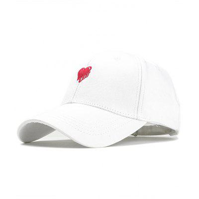 Romantic Heart Embroidery Adjustable Baseball Hat