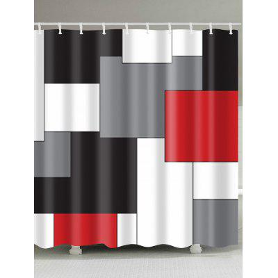 Color Blocks Waterproof Polyester Shower Curtain