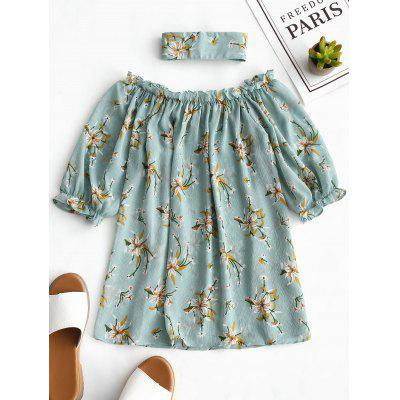 Off Shoulder Flower Blouse with Choker