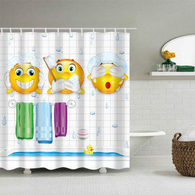 Emoji Print Waterproof Polyester Bath CurtainShower Curtain<br>Emoji Print Waterproof Polyester Bath Curtain<br><br>Materials: Polyester<br>Number of Hook Holes: W59 inch*L71 inch: 10; W71 inch*L71 inch: 12; W71 inch*L79 inch: 12<br>Package Contents: 1 x Shower Curtain 1 x Hooks (Set)<br>Products Type: Shower Curtains<br>Style: Fashion