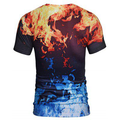 Flame 3D Print TeeMens Short Sleeve Tees<br>Flame 3D Print Tee<br><br>Collar: Crew Neck<br>Material: Polyester<br>Package Contents: 1 x Tee<br>Pattern Type: 3D<br>Sleeve Length: Short<br>Style: Casual<br>Weight: 0.2700kg