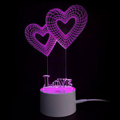 Dia dos Namorados Love Heart Touch Colors Changing LED Night Light