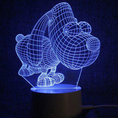 Puppy Shape Touch Colors Alterando LED Night Light