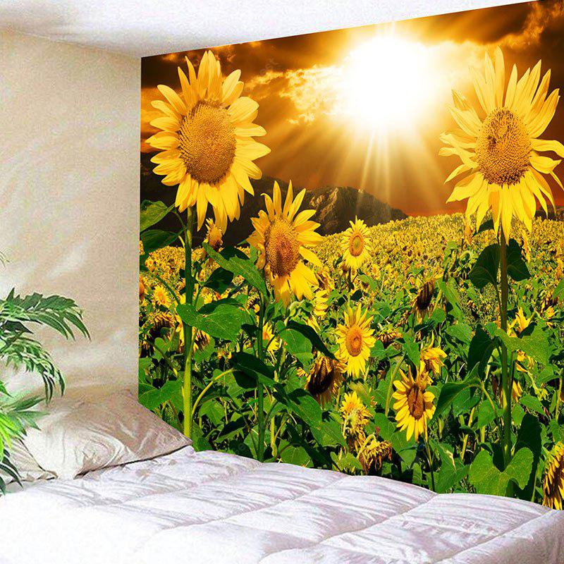 Sunset Sunflowers Print Wall Hanging Tapestry