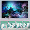 Starry Mountain Printed Home Decor Pintura de parede de arte - COLORIDO